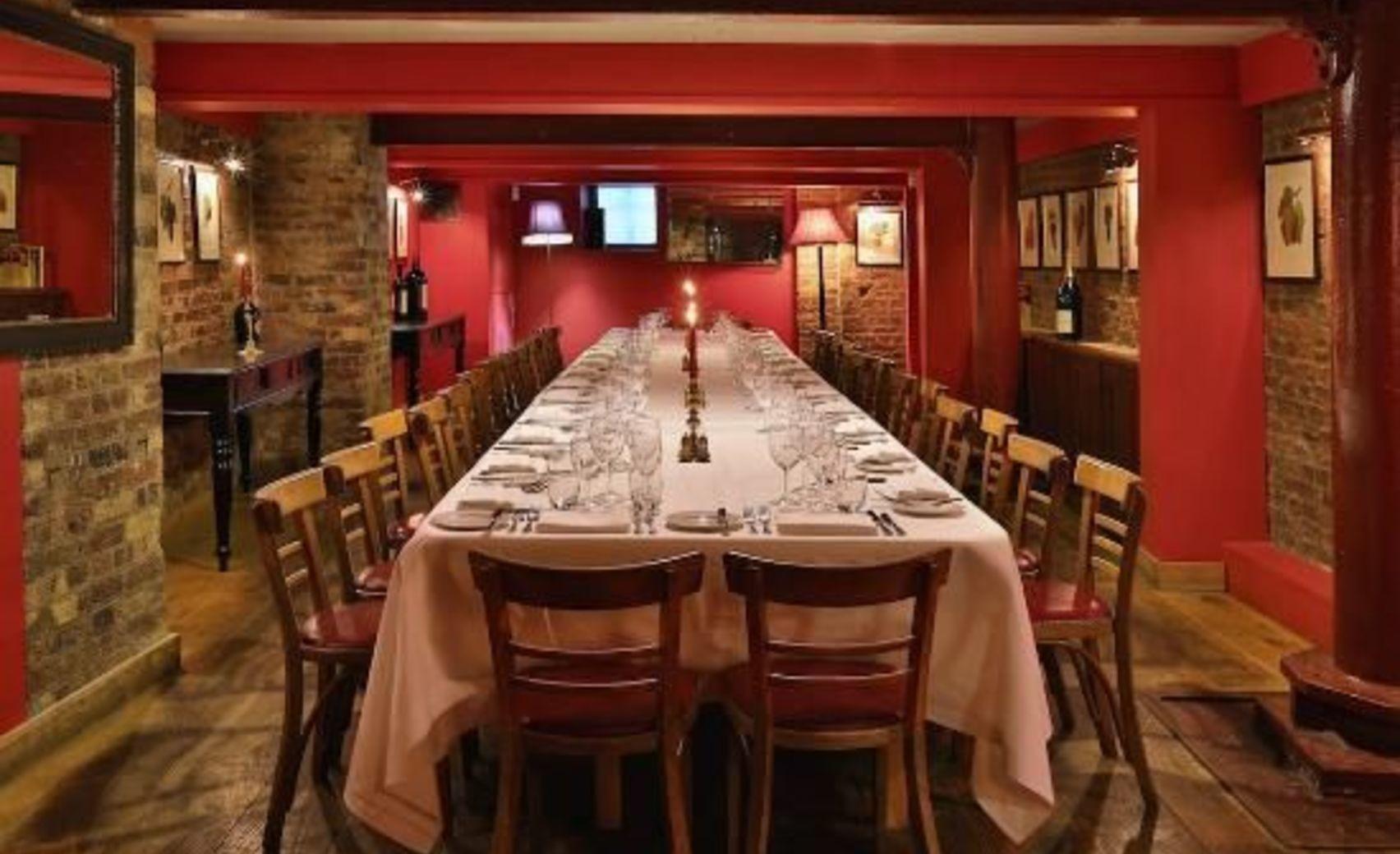 Dinner, The Wine Cellar, Bleeding Heart Restaurant