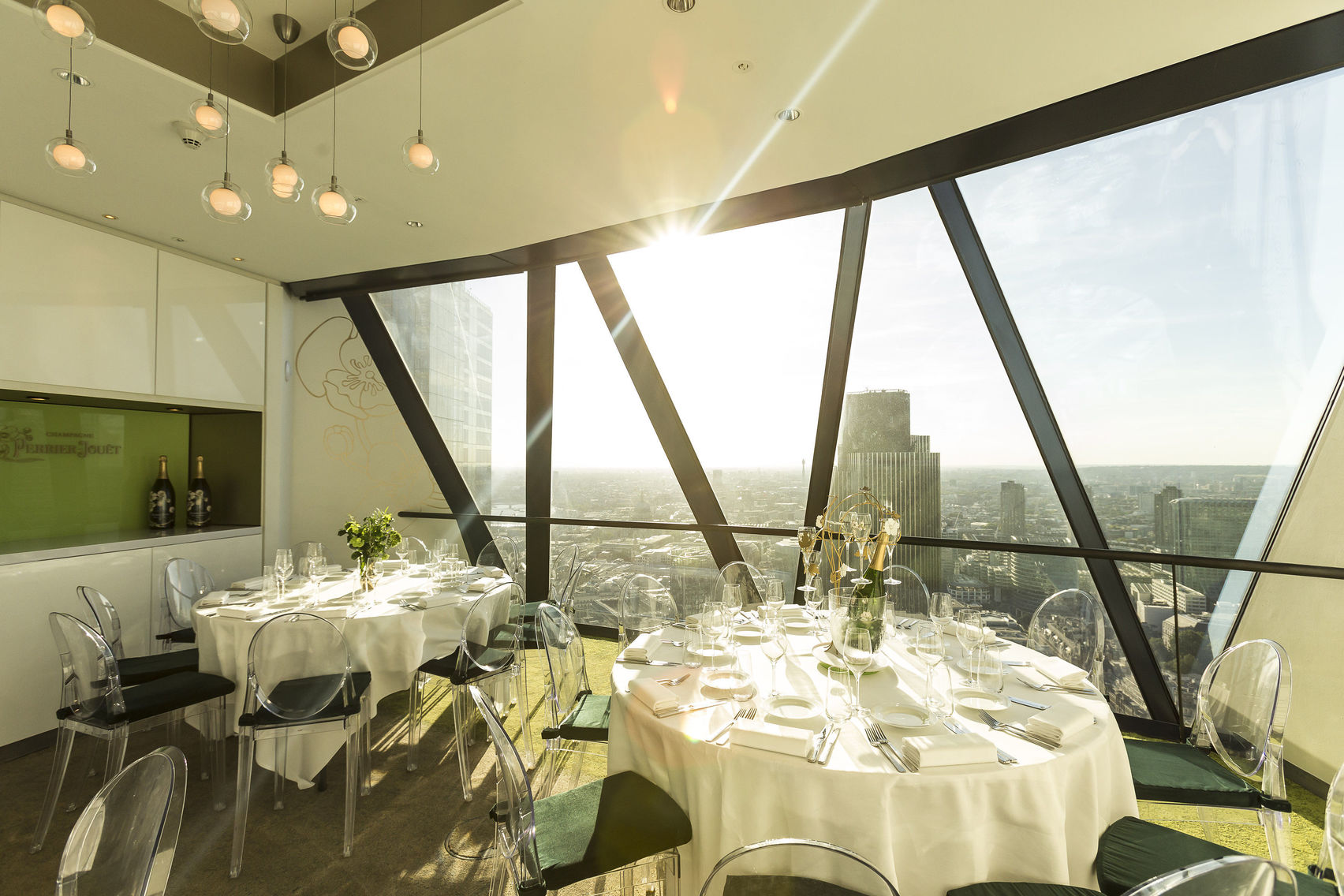 Perrier-Jouët Room, at The Gherkin