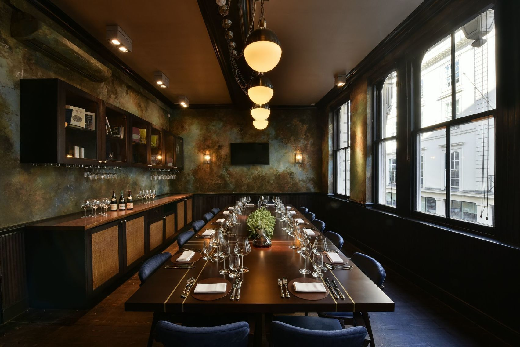 Book jeroboam room cabotte restaurant london headbox for Best private dining rooms city of london